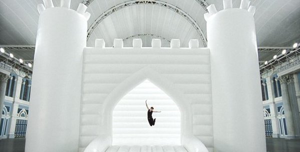 white bouncy