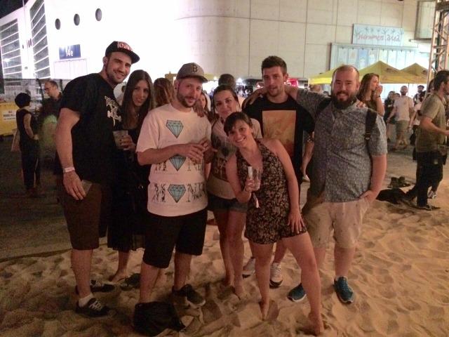 Com os amigos no Mulafest