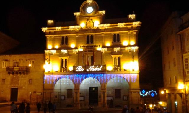 O centro de Ourense decorado para o Natal!