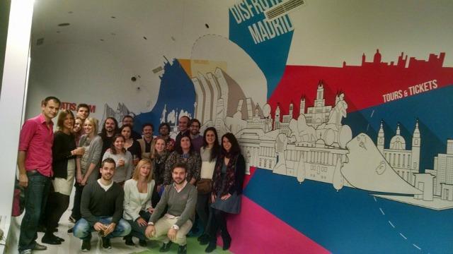 Equipe multicultural: Espanha, Brasil, Itália, França e Inglaterra!